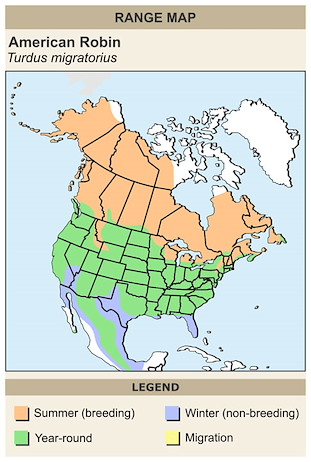 CERange Map for American Robin