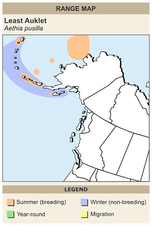 CERange Map for Least Auklet