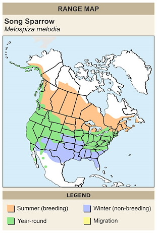 CERange Map for Song Sparrow