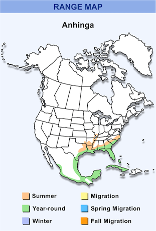 Range Map for Anhinga HD