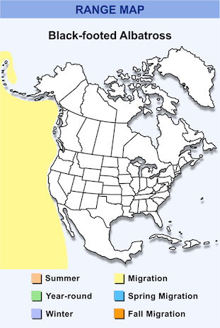 Range Map for Black-footed Albatross HD