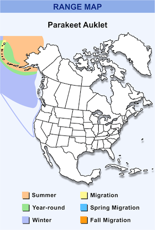 Range Map for Parakeet Auklet HD