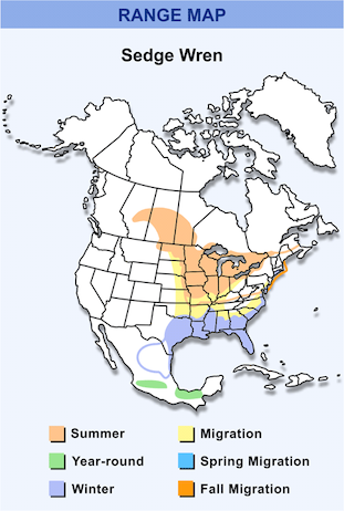 Range Map for Sedge Wren HD
