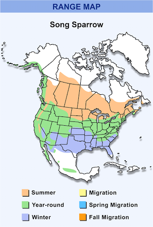 Range Map for Song Sparrow HD