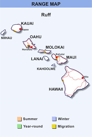 Range Map Hawaii for Ruff