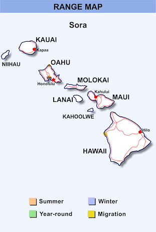 Range Map Hawaii for Sora