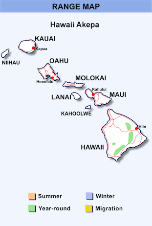 Range Map Hawaii for Hawaii Akepa.png